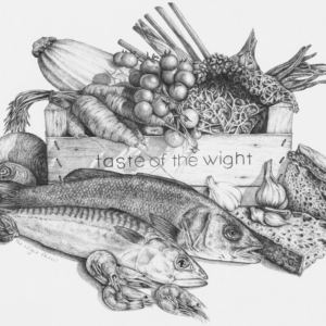 The Wight Pencil Tea Towel